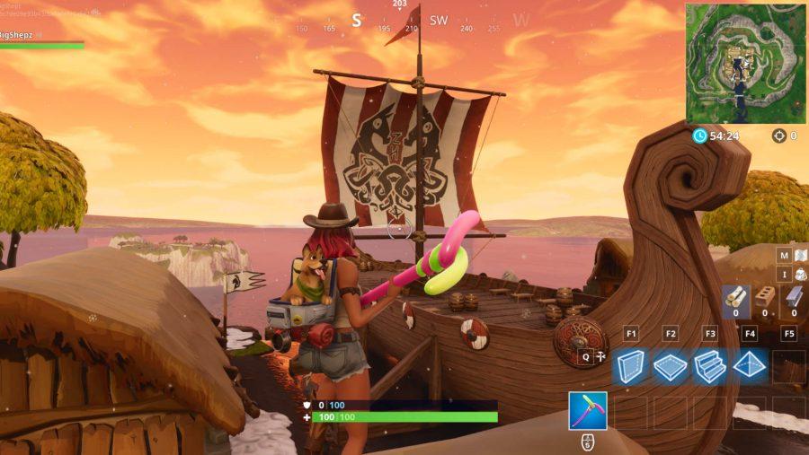 Fortnite Viking ship