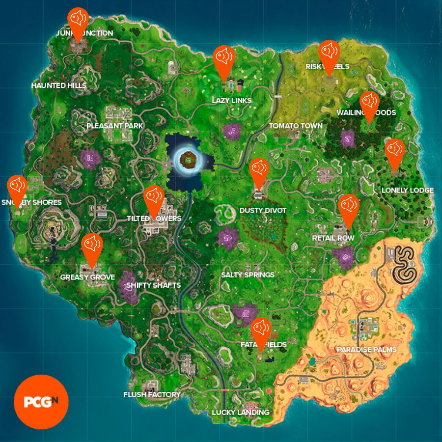 All Fortnite Fish Trophy locations: where to find all the ...
