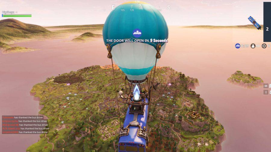 Fortnite skydive through Floating Rings screenshot