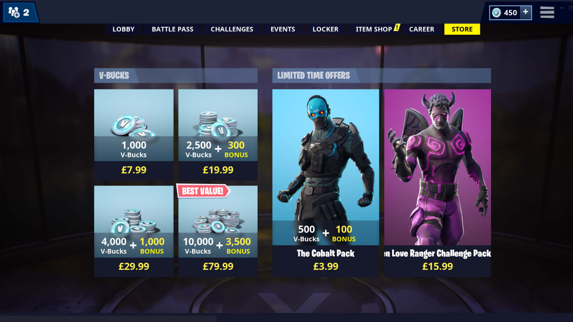 fortnite v bucks store - fortnite v bucks as a gift