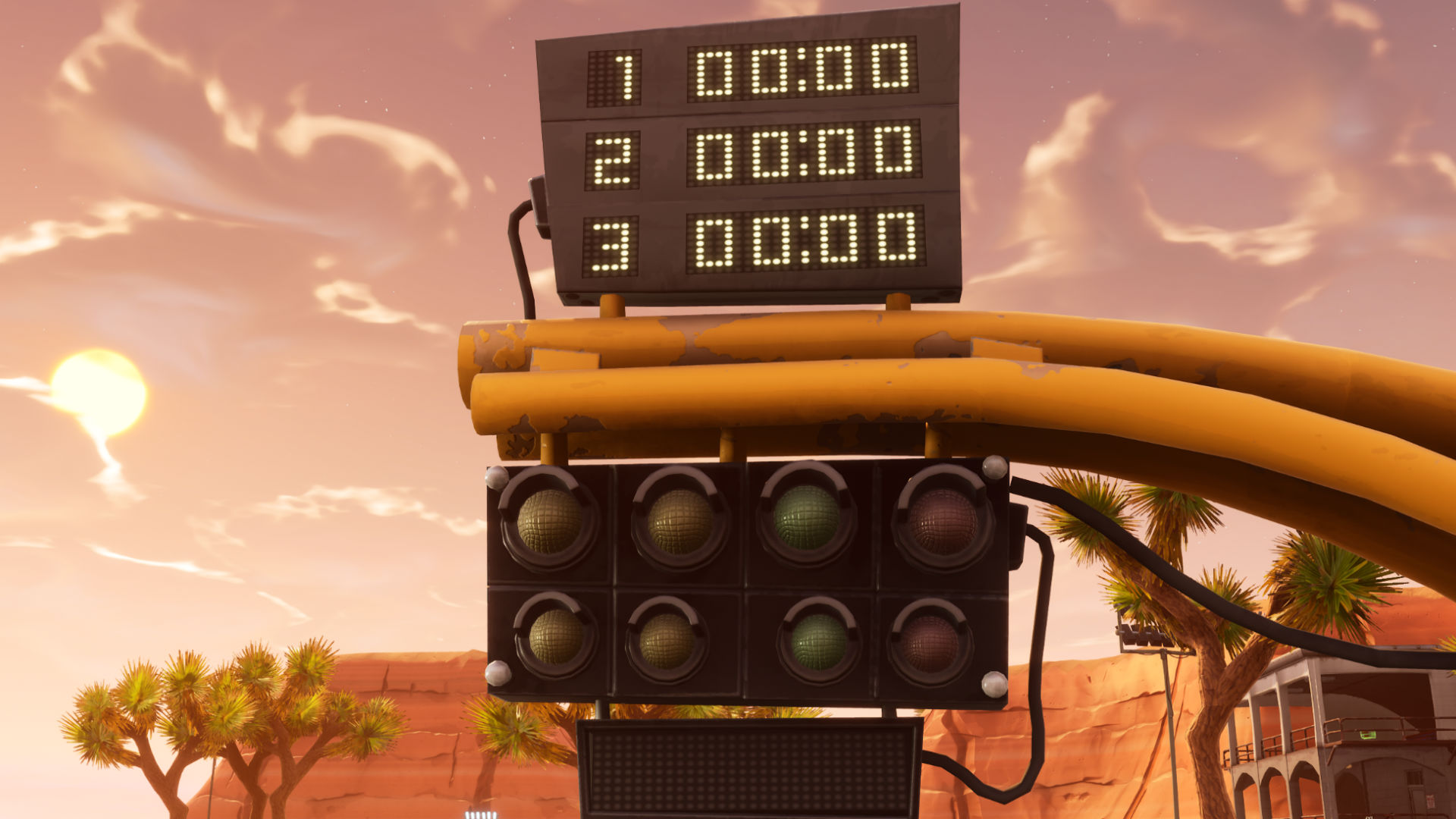 all fortnite vehicle timed trials locations where to complete three races against the clock. Black Bedroom Furniture Sets. Home Design Ideas