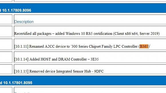 Intel B365 chipset