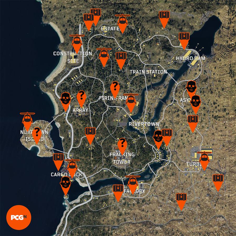Blackout map guide best loot spots