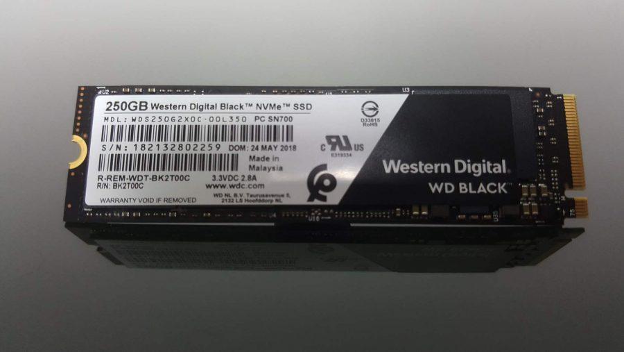 WD Black NVMe SSD specs