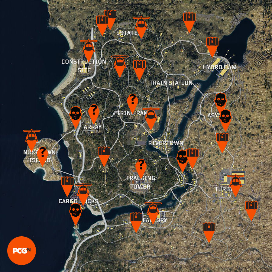 blackout map guide loot spots