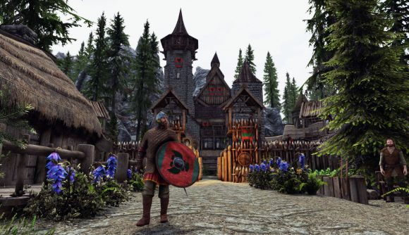 This Skyrim mod is basically a Nord city-building sim with you as