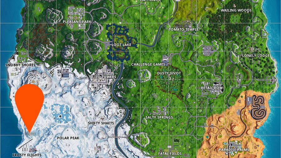 Fortnite giant candy canes locations map