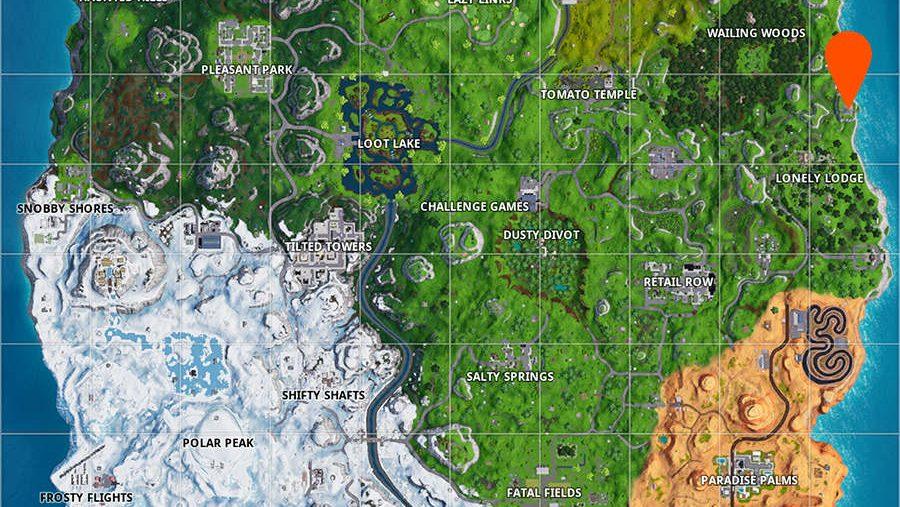 Fortnite metal turtle location map
