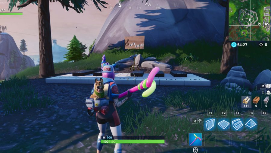 Fortnite pleasant park piano location