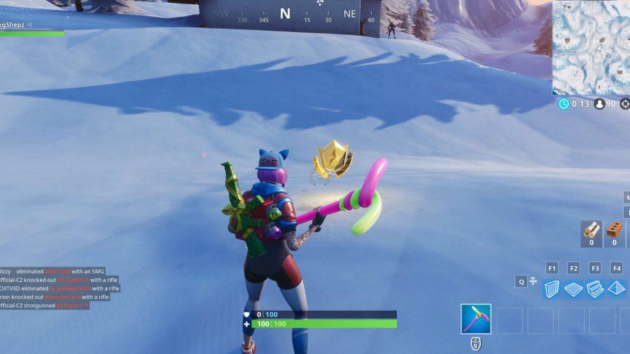 Fortnite search between three ski lodges location screenshot
