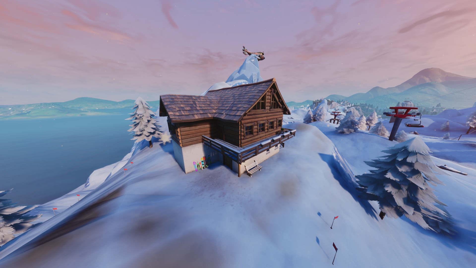 Fortnite: Search Between Three Ski Lodges Location