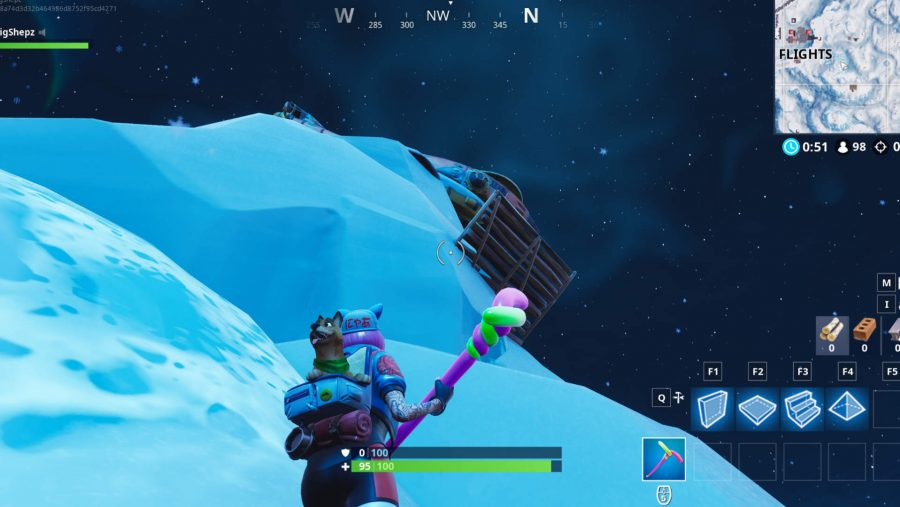 Screenshot of Fortnite riding location