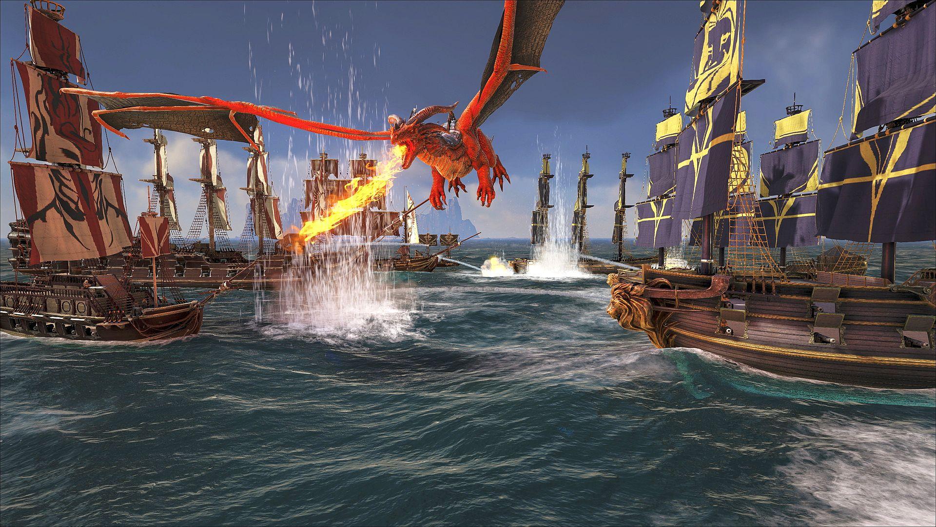 atlas ark screen menu pirate dragon