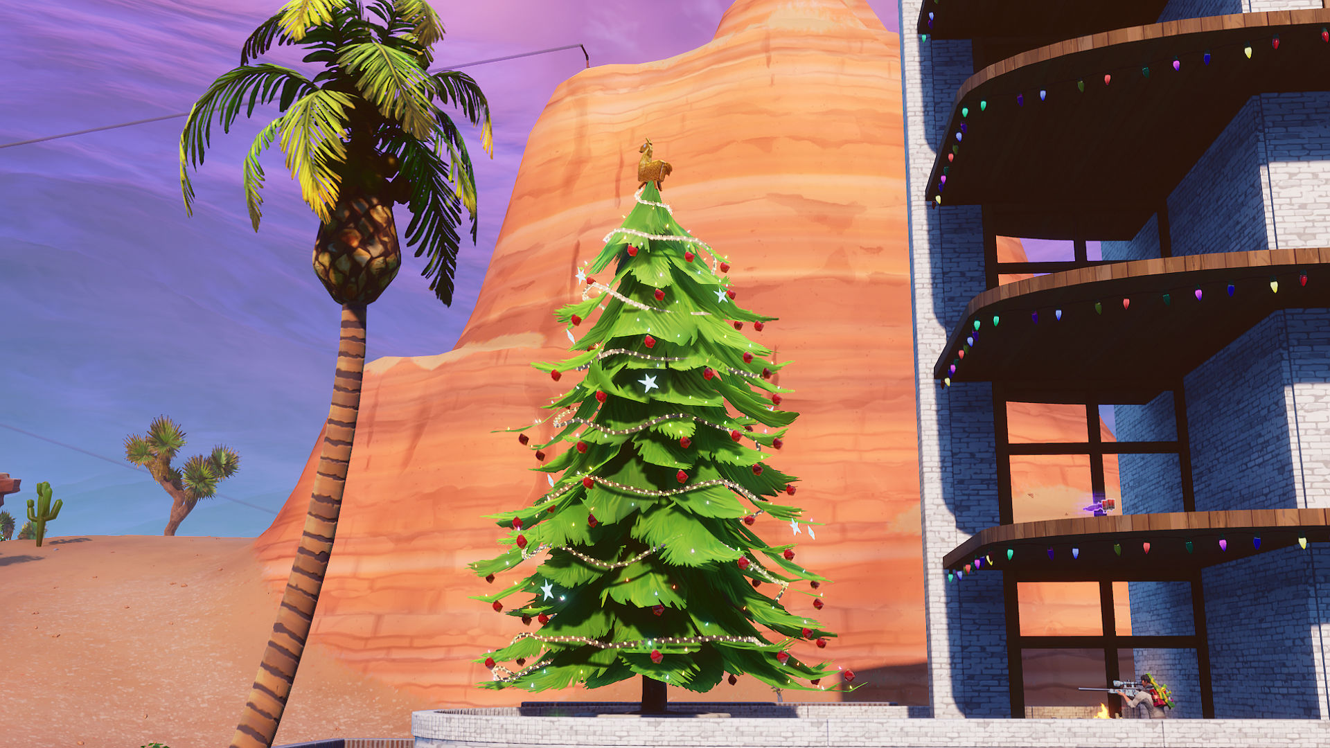 Try Hard Graft Fortnite Fortnite Christmas Tree Locations Where To Dance In Front Of Different Holiday Trees Pcgamesn