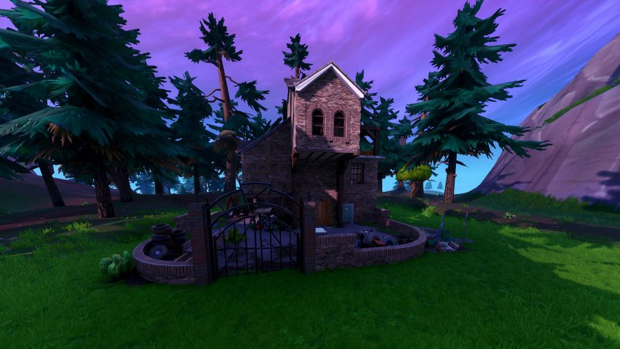 fortnite search for the letter O west of Pleasant Park