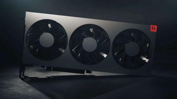 AMD Radeon VII front on