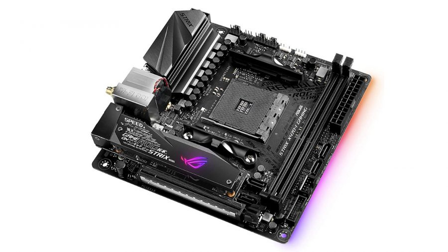 Best AMD gaming motherboard runner-up Asus ROG Strix X470-I Gaming