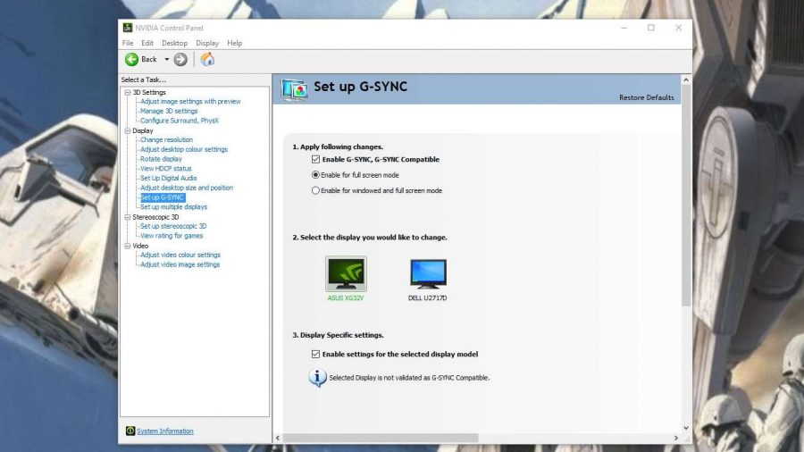 Enable G-Sync Compatible