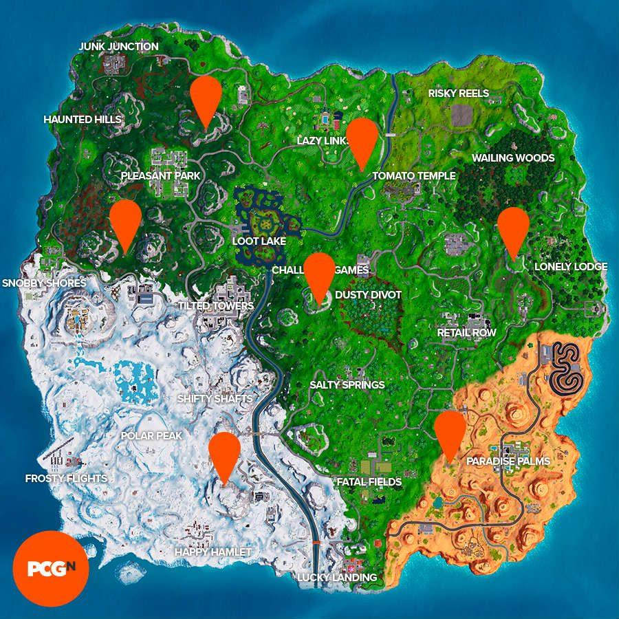 Fortnite Expedition Outposts locations map