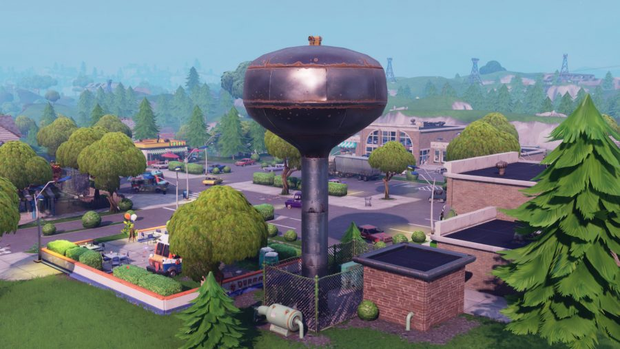 Fortnite Water Tower Location Where To Dance On Top Of A Water