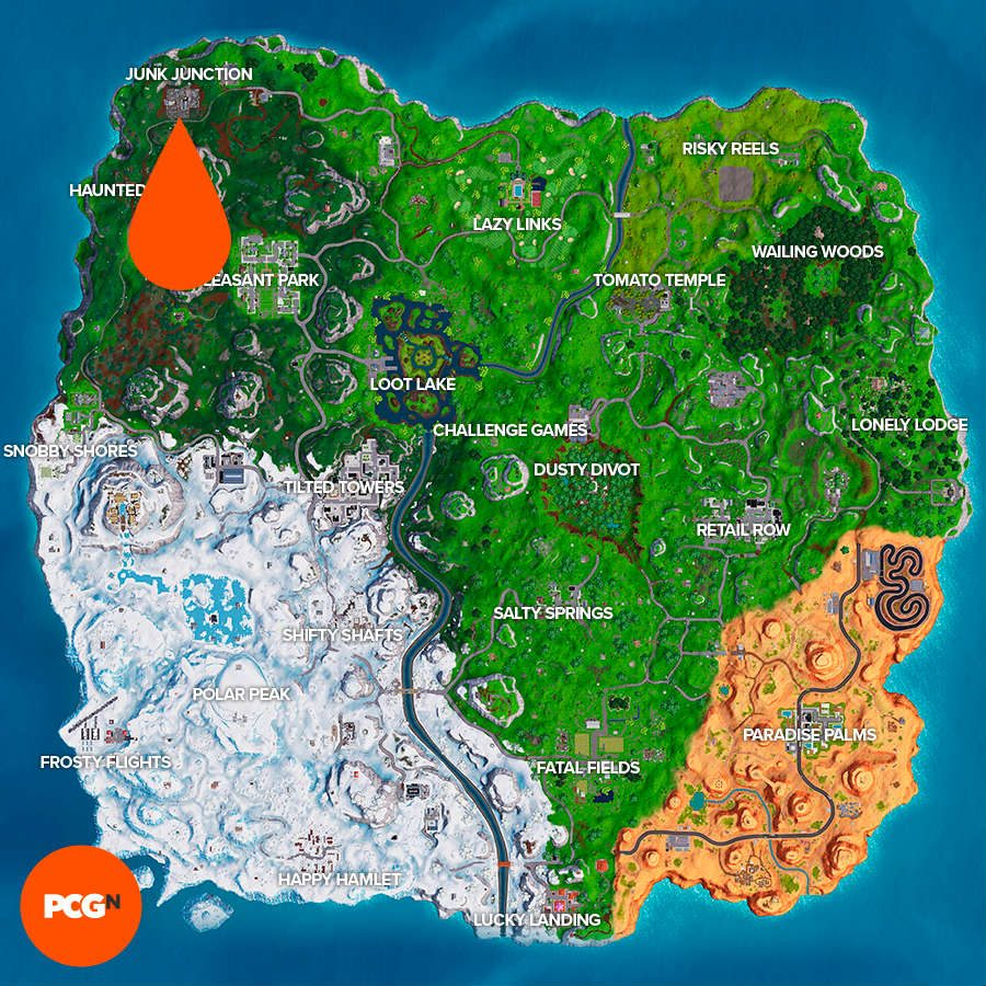Fortnite Giant Metal Dog Head Location Where To Dance On