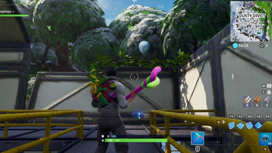 Fortnite golden balloons Dusty Divot