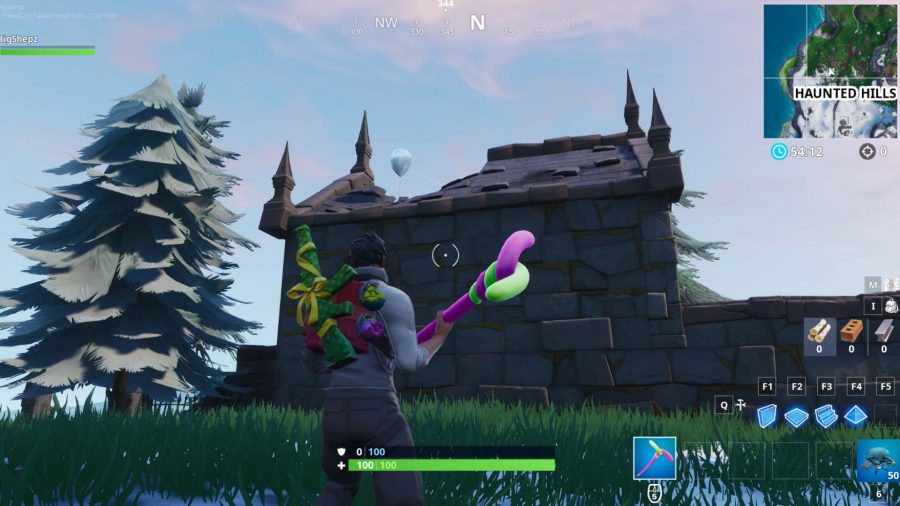 Fortnite golden balloons Haunted Hills