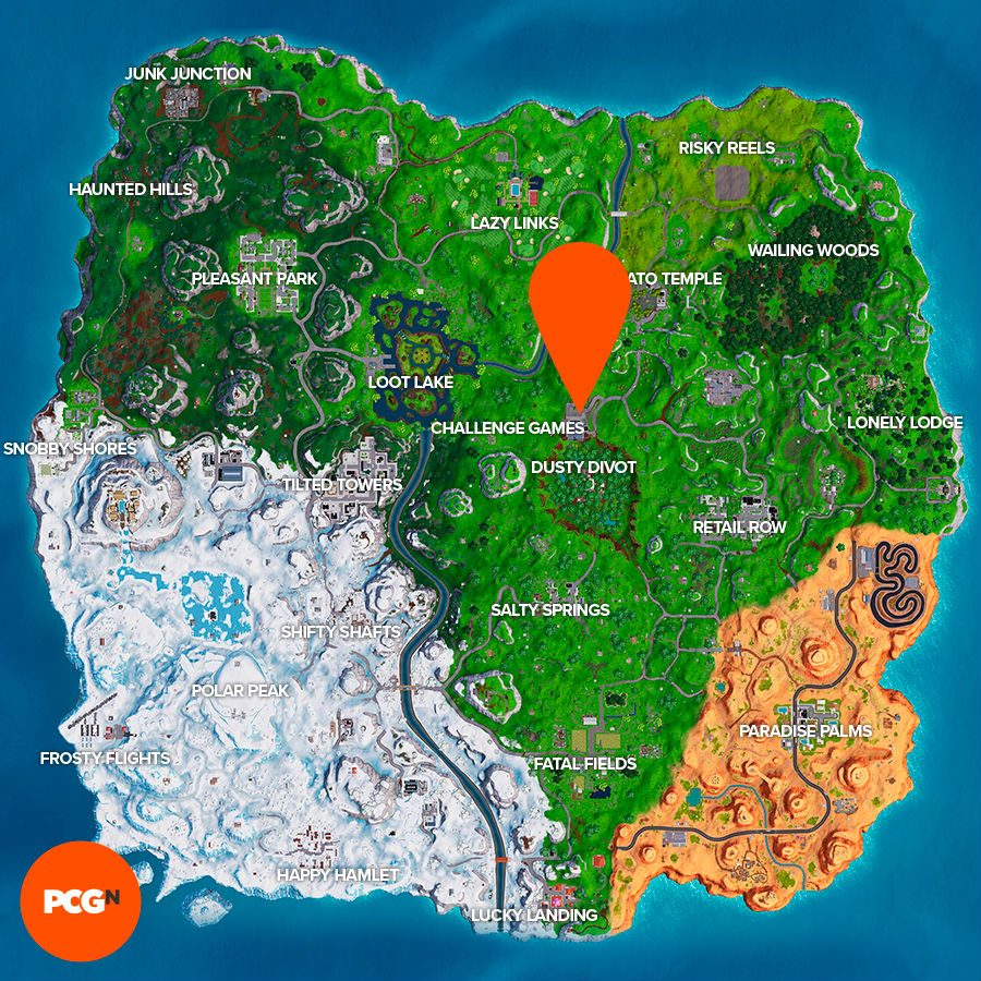 Fortnite oversized cup coffee location map
