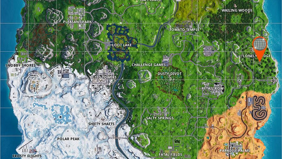 Fortnite ranger tower location map