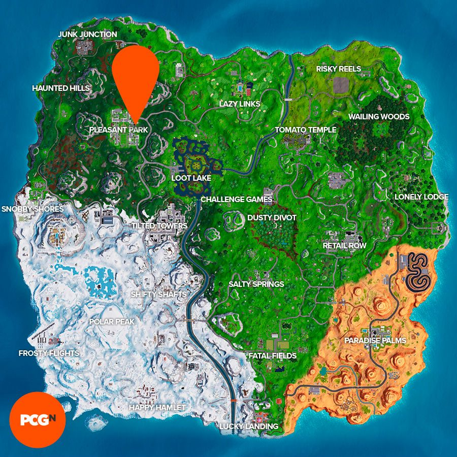 Fortnite showtime poster location map