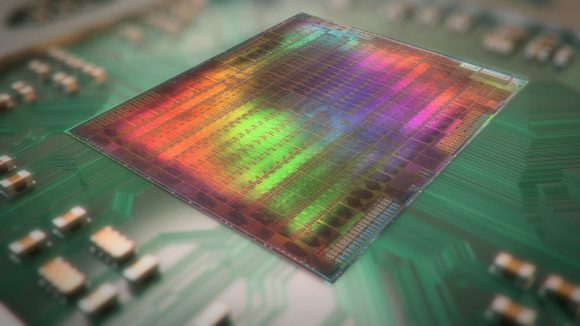 Image of GPU silicon