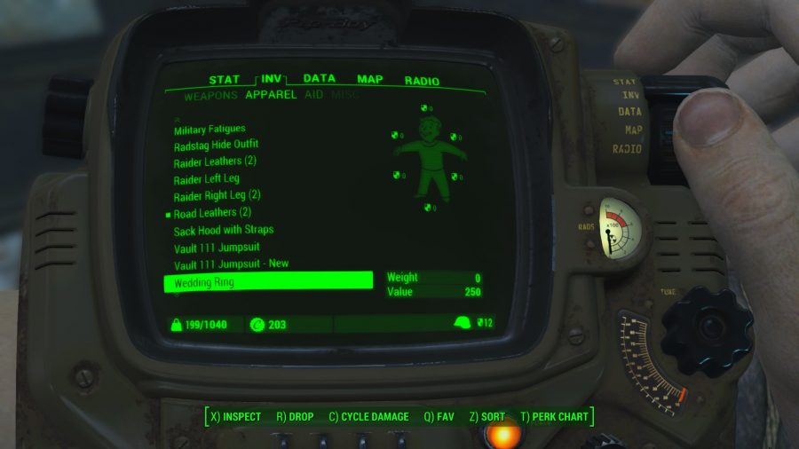 fallout 4 mods carry weight modifications