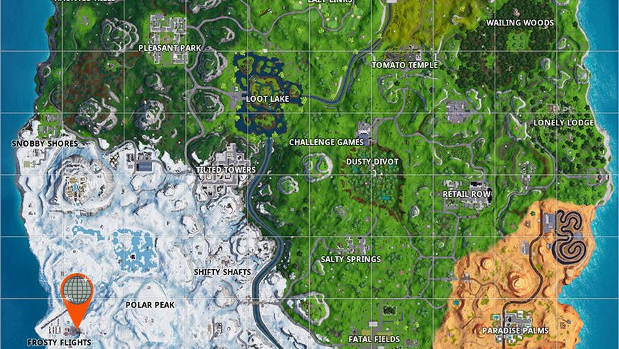 fortnite air traffic control tower location map