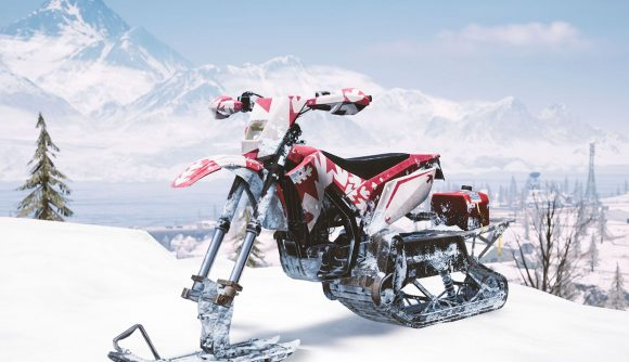 pubg snowbike