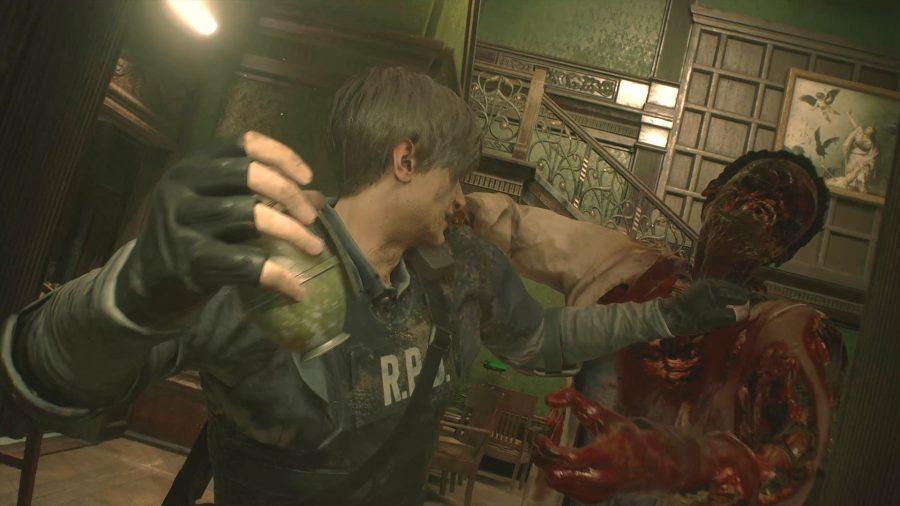 resident evil 2 grenade