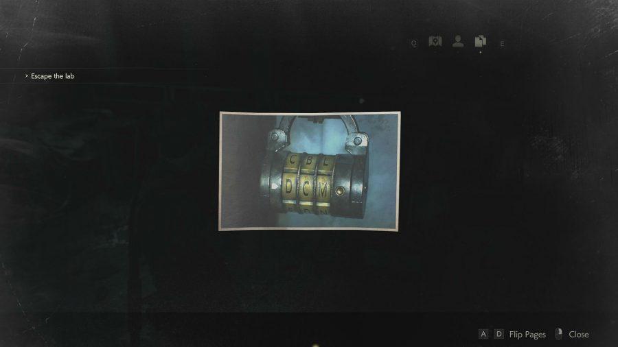 resident evil 2 remake second floor locker code