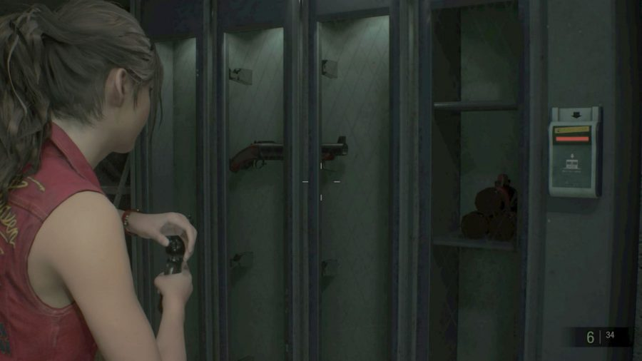 resident evil 2 safety deposit room