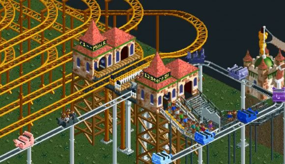 This RollerCoaster Tycoon ride takes 12 real-world years to