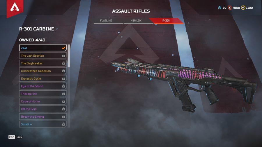 Apex legends best guns assault rifles r 301 carbine