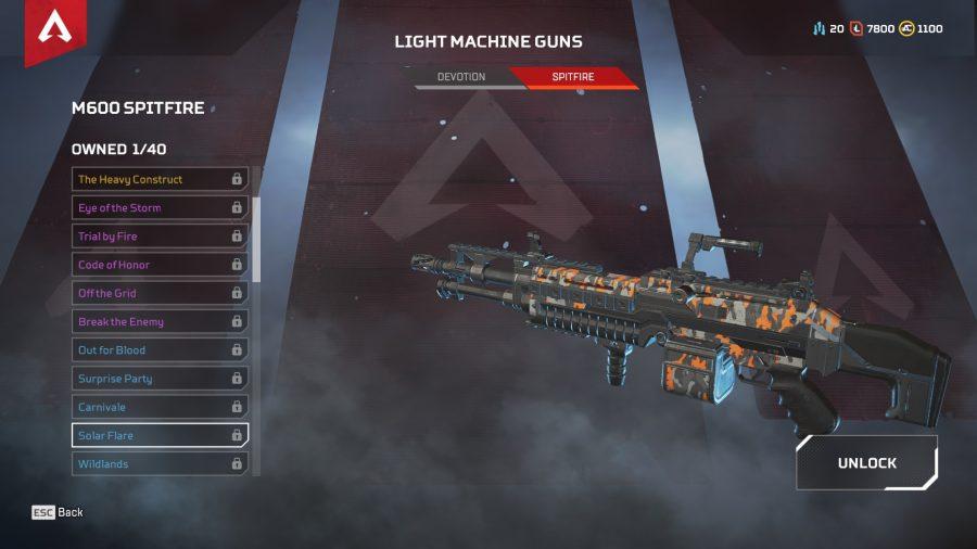 Apex legends best guns light machine guns m600 spitfire