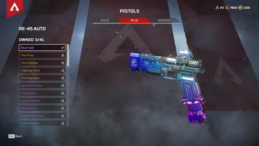 Apex legends best guns pistols re 45 auto