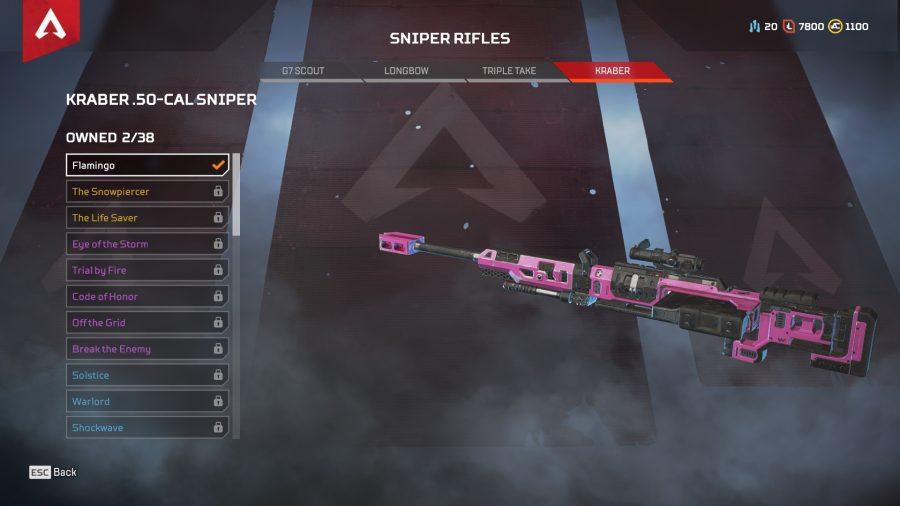 Apex legends best guns sniper rifles kraber 50 cal