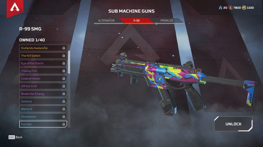 Apex legends best guns sub machine guns r-99 smg