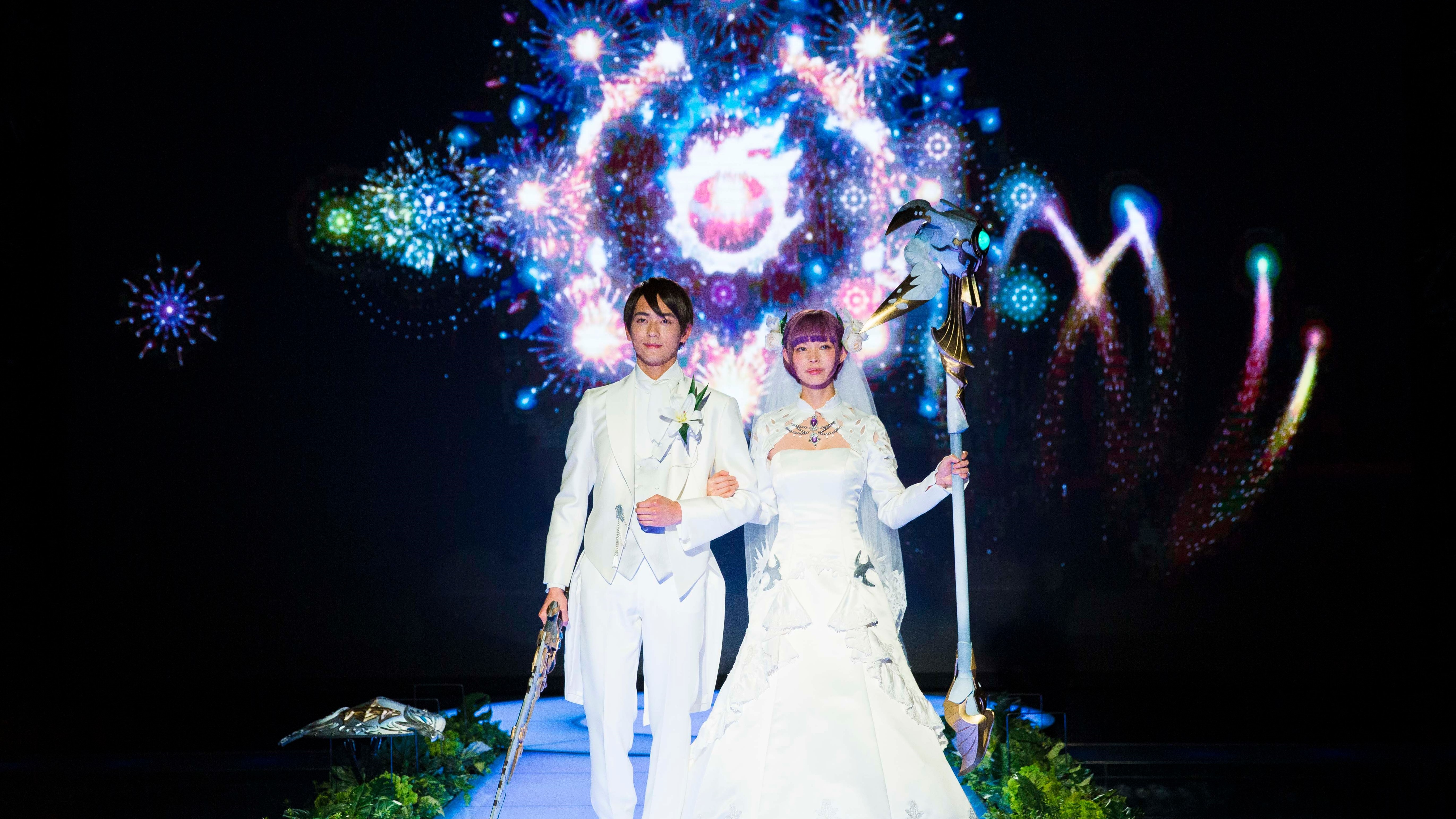 Real Life Final Fantasy Wedding Service Provides Giant