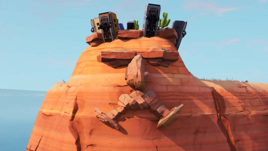 Fortnite giant face desert location