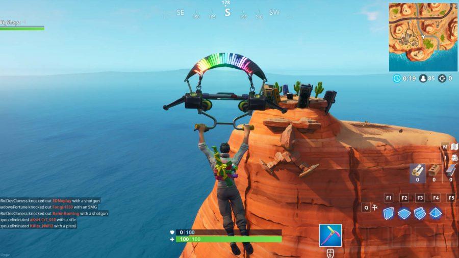 Fortnite giant face desert screenshot