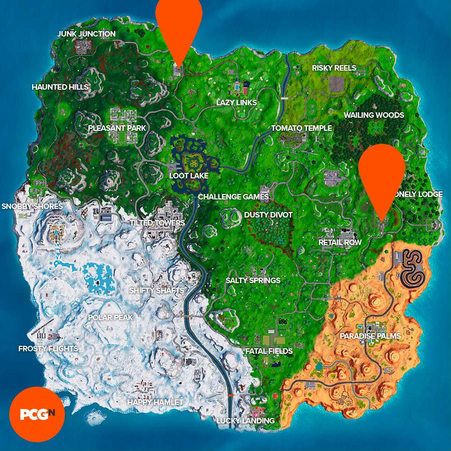Fortnite motel rv park location map