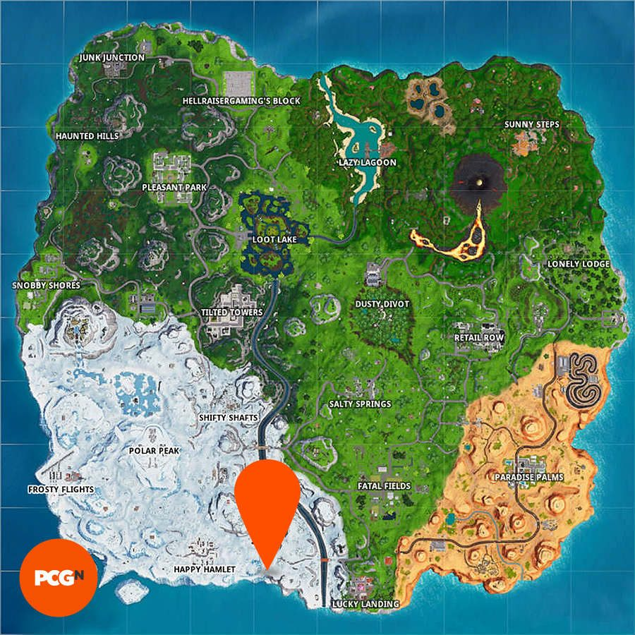 Fortnite snow giant face map