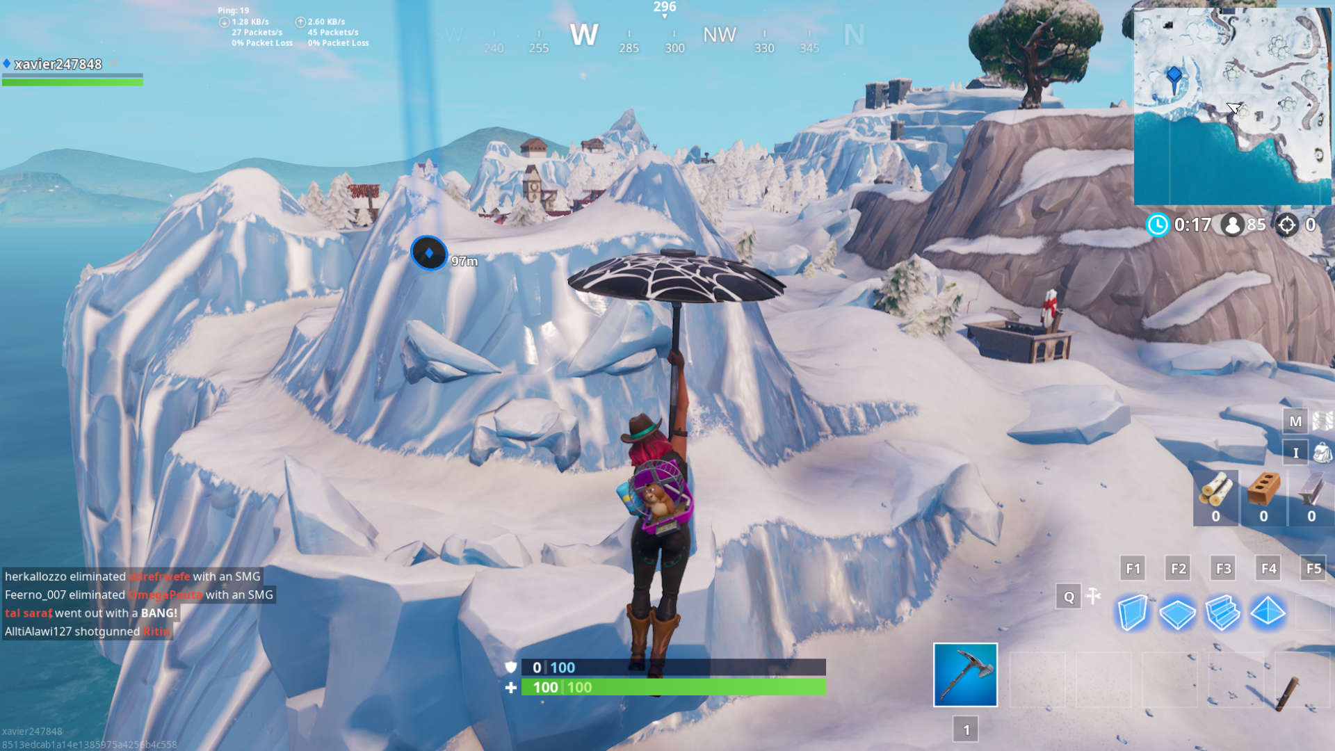 fortnite snow giant face screenshot - visit a giant face in the desert jungle and snow fortnite challenge