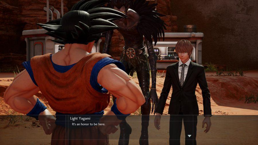 Jump Force Light and Goku